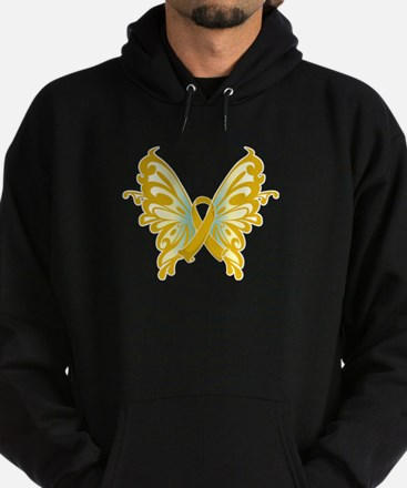 Childhood Cancer Butterfly Hoodie (dark)