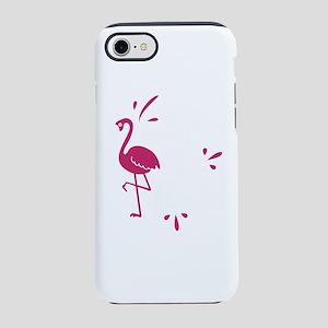 Flamingo Shirt What The Floc iPhone 8/7 Tough Case