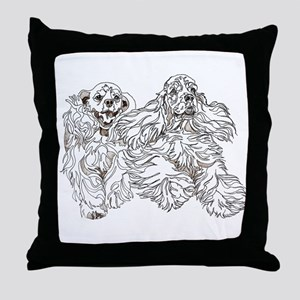 Christine Walters Cocker Buddies Throw Pillow