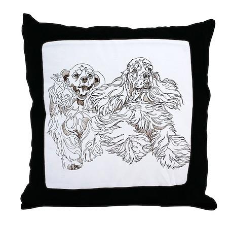 Christine Walters Cocker Buddies Throw Pillow