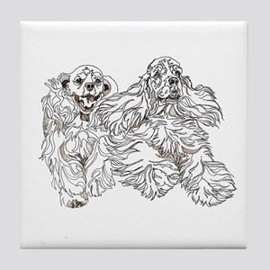 Christine Walters Cocker Buddies Tile Coaster