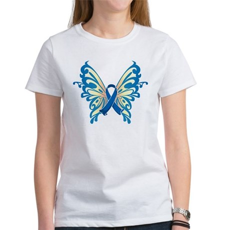 Colon Cancer Butterfly Women's T-Shirt