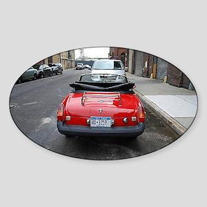 MG Rear Oval Sticker