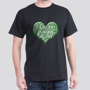 My Heart is With My Son Dark T-Shirt