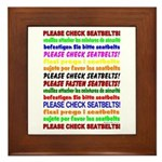 *NEW DESIGN* Seatbelts Please Framed Tile