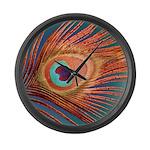 Peacock Large Wall Clock