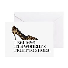 right to shoes Greeting Card