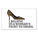 right to shoes Rectangle Sticker