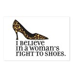 right to shoes Postcards (Package of 8)