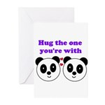 HUG THE ONE YOU'RE WITH Greeting Cards (Pk of 10)