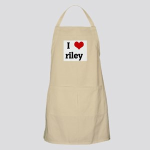 I Love riley BBQ Apron