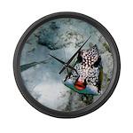 Fish Kiss Clock Large Wall Clock