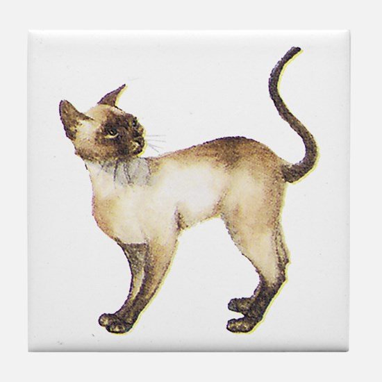 Siamese Cat Tile Coaster