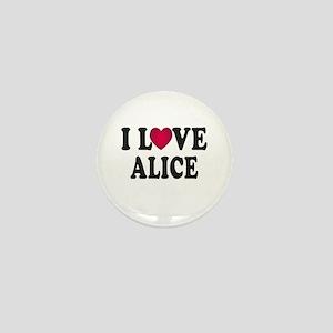 I L<3VE Alice Mini Button