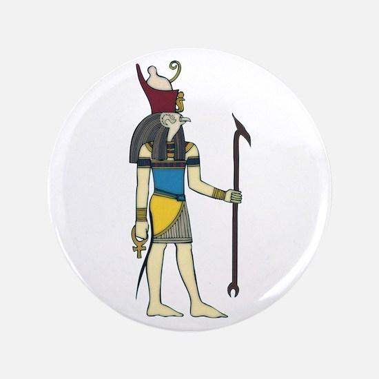 """God Horus 3.5"""" Button"""