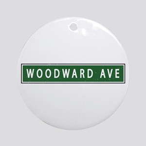Woodward Ave Ornament (Round)