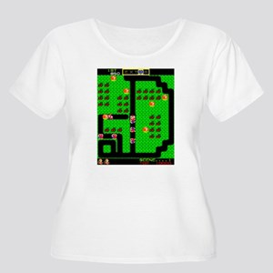 Mr Do! game screen Women's Plus Size Scoop Neck T-