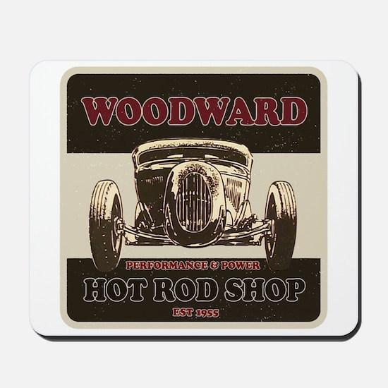 Hot Rod Shop Mousepad