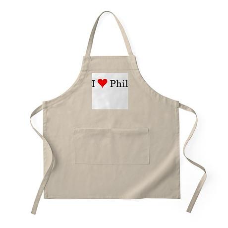 I Love Phil BBQ Apron