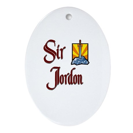 Sir Jordon Oval Ornament