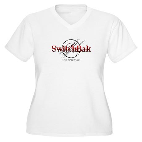 SwitchBak Women's Plus Size V-Neck T-Shirt