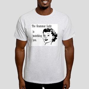 Grammar Lady is Watching You Light T-Shirt