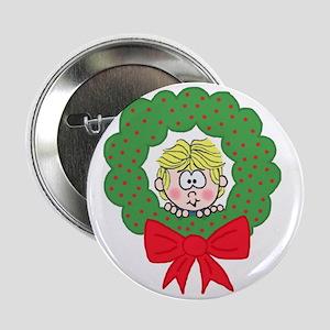 Peek-a-Boo Wreath Button