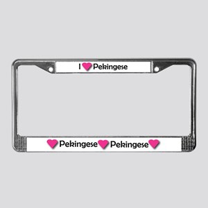 I LUV PEKINGESE License Plate Frame