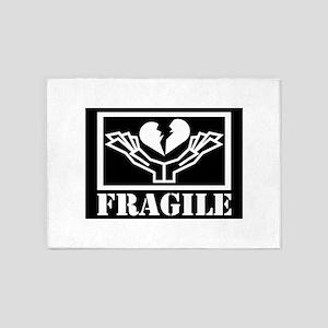 FRAGILE 5'x7'Area Rug