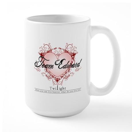 Team Edward Heart Large Mug