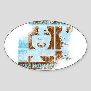 Objects Woman Lebowski Oval Sticker