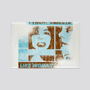 Objects Woman Lebowski Rectangle Magnet