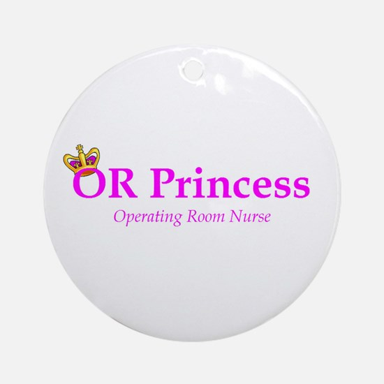 OR Princess RN Ornament (Round)
