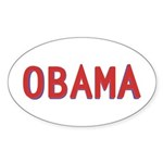 Obama, in Mostly Red Oval Sticker (10 pk)