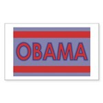 Obama Rectangle Sticker 10 pk)