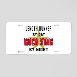 Length runner By Day, Rock Aluminum License Plate