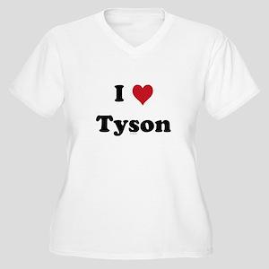 I love Tyson Women's Plus Size V-Neck T-Shirt