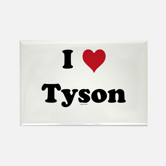 I love Tyson Rectangle Magnet