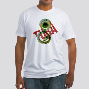 Grunge Sousaphone Fitted T-Shirt