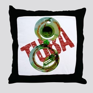 Grunge Sousaphone Throw Pillow