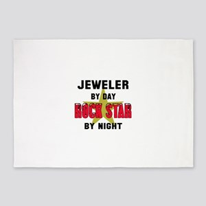 Jeweler By Day, Rock Star By night 5'x7'Area Rug