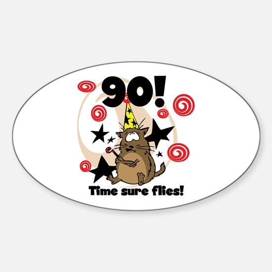 90th Birthday Oval Decal
