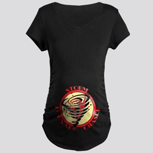 Storm Tornado Chaser Maternity Dark T-Shirt