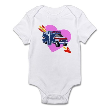 EMS Care Heart Infant Bodysuit