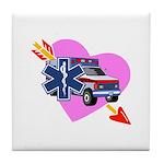 EMS Care Heart Tile Coaster