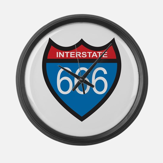 Interstate 666 Large Wall Clock