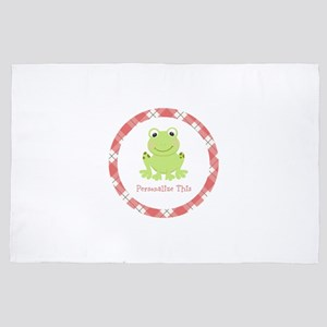 Cute Frog personalized 4' x 6' Rug