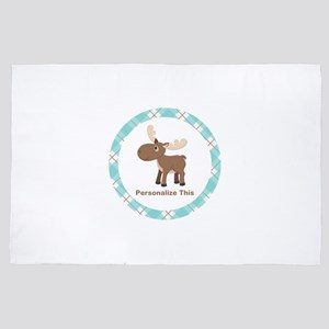 Cute Moose personalized 4' x 6' Rug