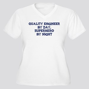 Quality Engineer by day Women's Plus Size V-Neck T