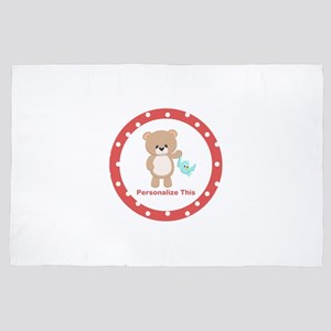 Cute Bear personalized 4' x 6' Rug